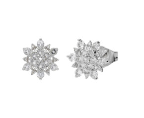 Limited Edition 9ct White Gold Topaz Cluster Stud Earrings