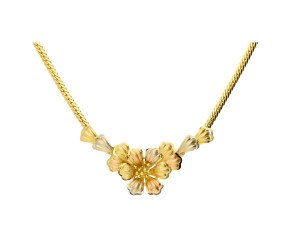 Pre-owned Italian Floral Necklace & Bracelet Jewellery Set