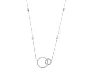 18ct White Gold 0.53ct Diamond Circles Necklace
