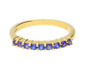 9ct Yellow Gold Tanzanite Eternity Ring
