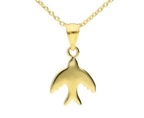 9ct Yellow Gold Dove Pendant