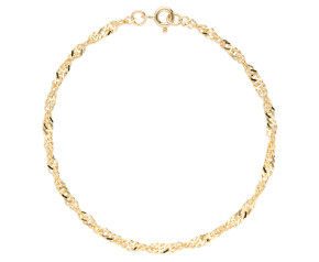 9ct Yellow Gold 3.10 mm Twisted Curb Chain Bracelet