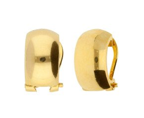 9ct Yellow Gold Polished Clip-on Hoop Earrings