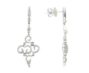 18ct White Gold 0.68ct Diamond Fancy Drop Earrings