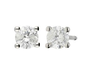 Classic Collection Platinum 0.50ct Solitaire Earrings