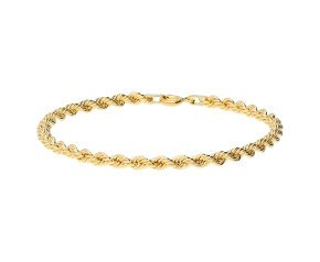 9ct Yellow Gold Fancy Rope Bracelet