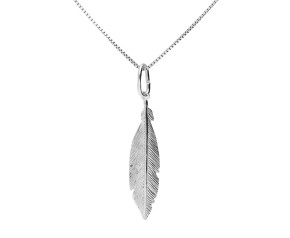 Sterling Silver Small Feather Pendant