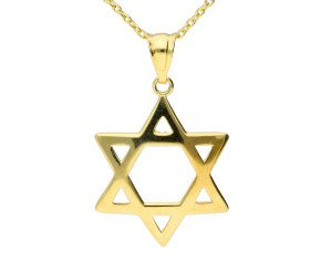 9ct Yellow Gold Star Of David Pendant
