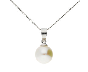 Sterling Silver 7mm Freshwater Pearl Pendant