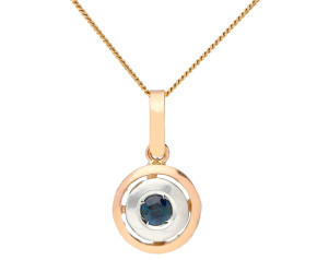 Handcrafted Italian Sapphire Pendant