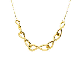 9ct Yellow Gold Infinity Link Necklace