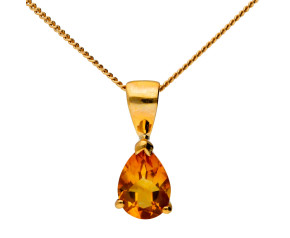 9ct Yellow Gold 0.85ct Citrine Pendant