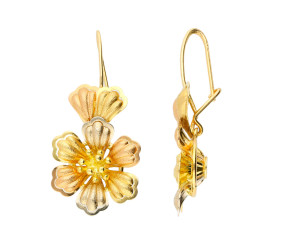 Pre-owned Italian Floral Earrings
