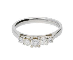 Classic Collection Platinum 0.50ct Five Stone Diamond Ring