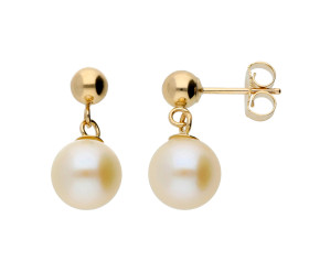 9ct Yellow Gold 7mm FreshWater Pearl Earrings