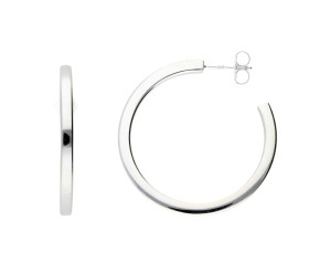 Sterling Silver 3.40cm Hoop Earrings