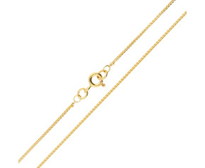 18ct Yellow Gold 1.08mm Spiga Chain