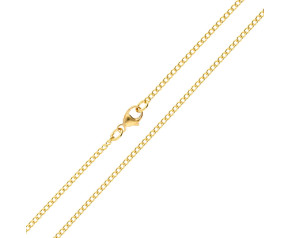 18ct Yellow Gold 1.64mm Curb Chain