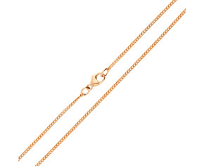 18ct Rose Gold 1.59mm Filed Curb Chain