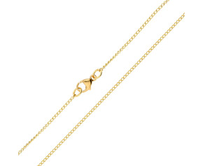 18ct Yellow Gold 1.28mm Curb Chain