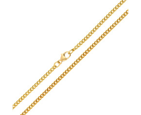 18ct Yellow Gold 2.45mm Curb Chain