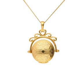 9ct Yellow Gold Round Spinner Locket