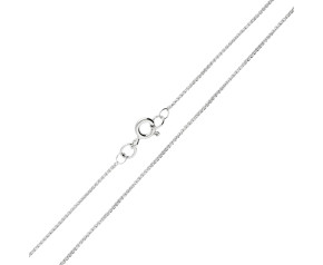 9ct White Gold 1.08mm Spiga Chain