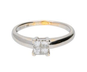 Pre-owned 0.20ct Diamond Cluster Ring