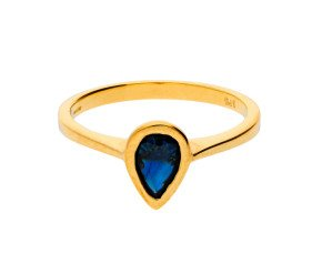 9ct Yellow Gold 0.75ct Sapphire Solitaire Ring