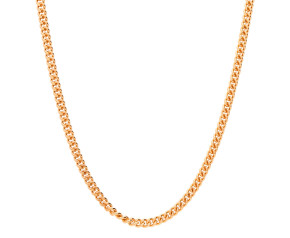 9ct Rose Gold 2.11mm Filed Curb Chain Necklace