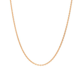 9ct Rose Gold 1.93mm Close Link Trace Chain