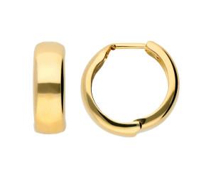 9ct Yellow Gold 12mm Hoop Earrings