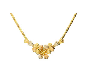 Pre-owned Italian Floral Necklace.