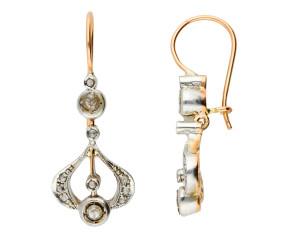 Handcrafted Italian 0.45ct Diamond Drop Earrings