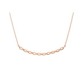 9ct Rose Gold Fancy Plait Necklace