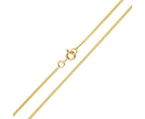 9ct Yellow Gold 1.59mm Filed Curb Chain