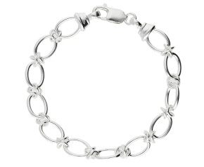 9mm Silver Handmade Bracelet