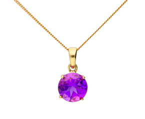 9ct Yellow Gold 1.90ct Amethyst Pendant