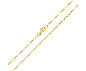 18ct Yellow Gold 1.76mm Trace Chain