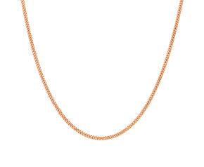 9ct Rose Gold 1.1mm Filed Curb Adjustable Chain