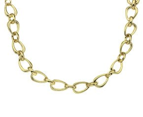 18ct Yellow Gold Pyrus Chain Necklace