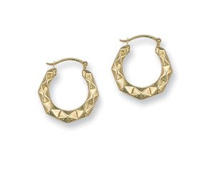 9ct Yellow Gold Hoop Earrings