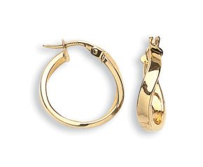 9ct Yellow Gold Curve Hoop Earrings