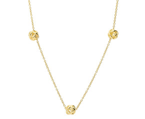9ct Yellow Gold Infinity Necklace