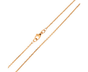 18ct Rose Gold 1.46mm Close Link Filed Trace Chain