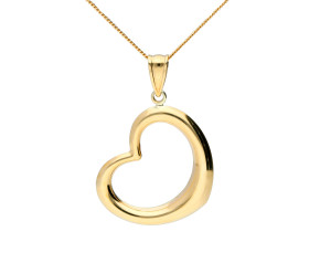 9ct Yellow Gold Openwork Heart Pendant