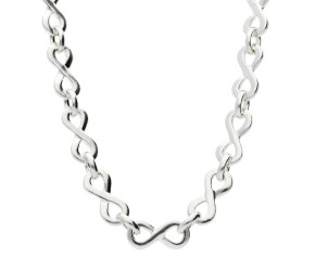 Silver Infinity Necklace -16.00 inches