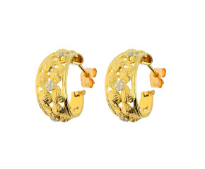 Pre-owned Fancy Hoop Earrings