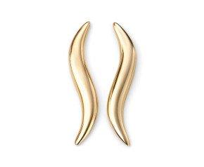9ct Gold Wave Earrings