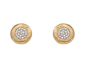 9ct Yellow Gold & Diamond Stud Earrings